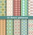 10 retro pattern vector image vector image