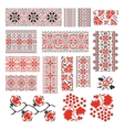 Ukrainian ethnic national seamless patterns vector image vector image