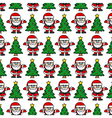 Christmas background Santa Claus vector image