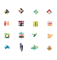 Collection of glossy paper geometric business vector image