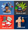 Drugs addiction concept vector image