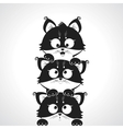 cute kitten vector image
