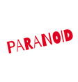paranoid rubber stamp vector image