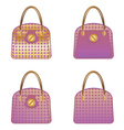 Purple handbags vector image