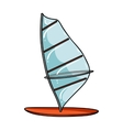 Windsurf board icon in cartoon style isolated on vector image