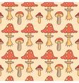 autumn mushrooms vector image
