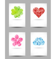 Set of shapes with abstract triangles vector image