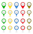 map markers vector image vector image