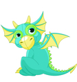 cartoon baby dragon vector image vector image