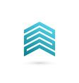 Real estate house logo icon design template vector image