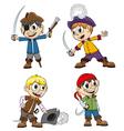 Cheerful pirates vector image