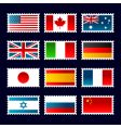flag stamps vector image