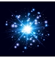 Glow light effect Star burst with sparkles vector image