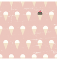 seamless ice cream vintage distressed pattern vector image