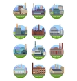 Set of Factory Building Banners vector image