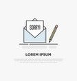 sorry concept written on white sheet vector image