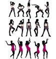sport silhouettes of women vector image