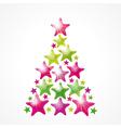 Star Christmas tree vector image