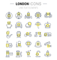 London Line Icons 7 vector image
