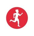 Isolated runner man inside circle design vector image