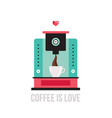 cute colorful coffee maker vector image
