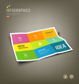 Colorful Paper Infographics Folded 9 fold vector image
