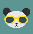 Panda glasses vector image vector image