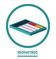 Isometric design vector image