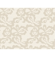 Floral lace vintage rustic seamless pattern vector image