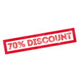 70 percent discount rubber stamp vector image