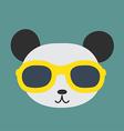Panda glasses vector image
