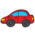 red car color in hand drawing style vector image