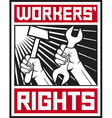 socialist workers rights posters vector image vector image