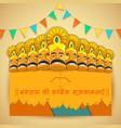 Ravana with ten heads for Dussehra vector image vector image