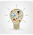 Art a bulb vector image