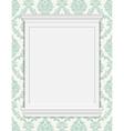 vintage frame moldings on retro wallpaper vector image vector image