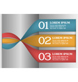 3D Spiral Infographics Options Banner vector image