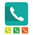 Flat sign phone vector image