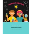Young scientist - education research and school vector image