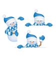 snowmen frame vector image vector image