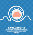 cloud sign icon Blue and white abstract background vector image