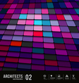 Abstract multicolored tiles materials purple vector image