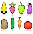 cartoon vegetable vector image