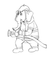 Elephant Firefighter vector image