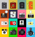 History of Camera vector image