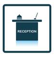 Hotel reception desk icon vector image