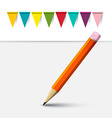 Pencil and Flags Empty Background vector image