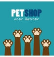 symbol pet shop paw print brown icon vector image