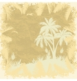 Tropical palms trees and seagulls silhouettes vector image