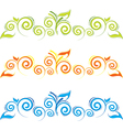 Swirl floral border vector image vector image